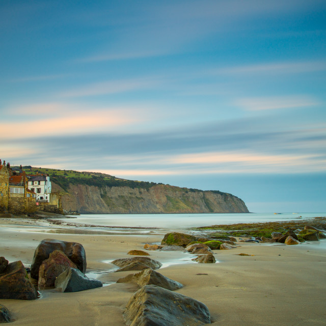 """""""Day's End at Robin Hood's Bay"""" stock image"""