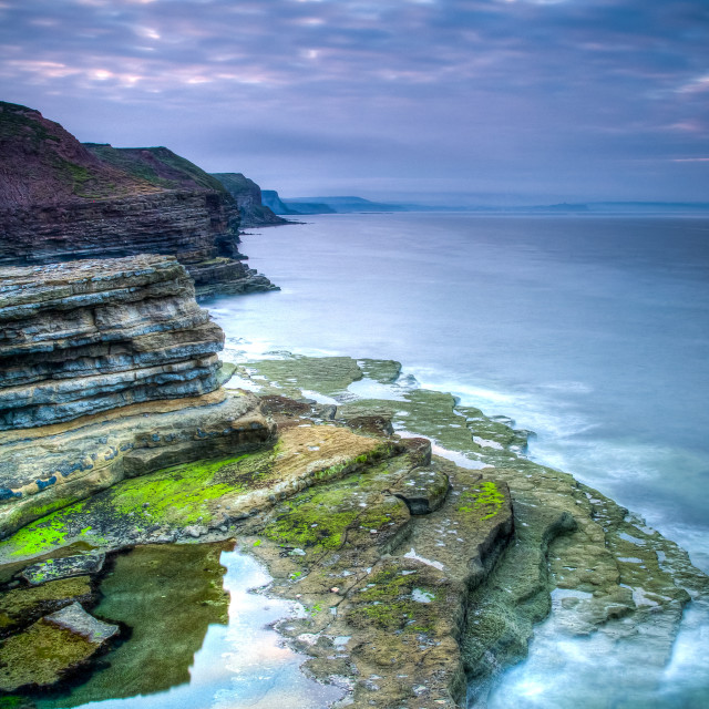 """Filey Brigg Sunset"" stock image"