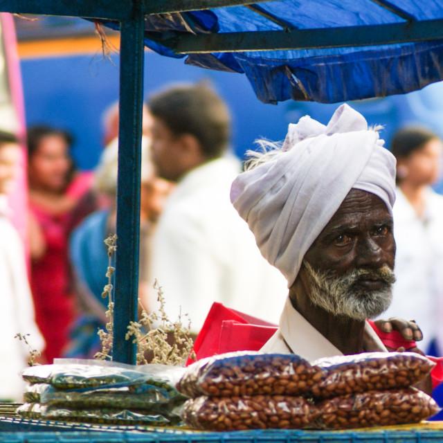 """Market day. Kerala."" stock image"