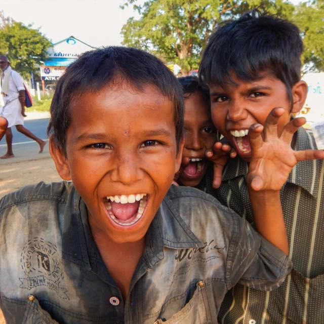 """""""Indian treet kids."""" stock image"""