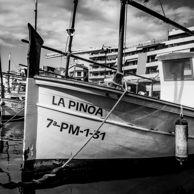 """Boats in Porto Cristo"" stock image"