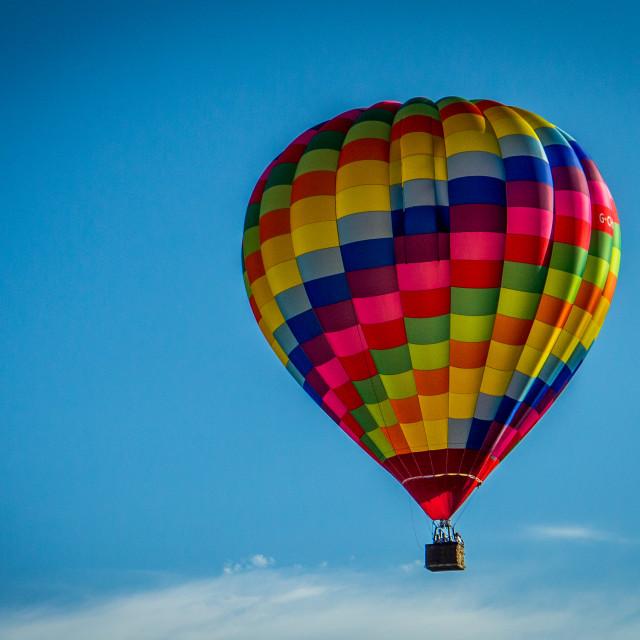 """""""Hot Air Ballon Over Bristol"""" stock image"""