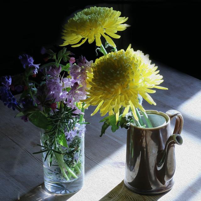 """Still Life Flowers"" stock image"