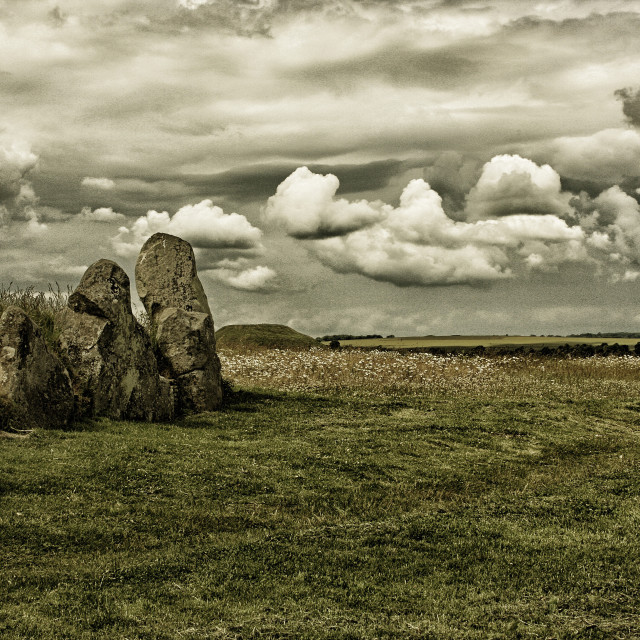 """""""Neolithic Sky"""" stock image"""