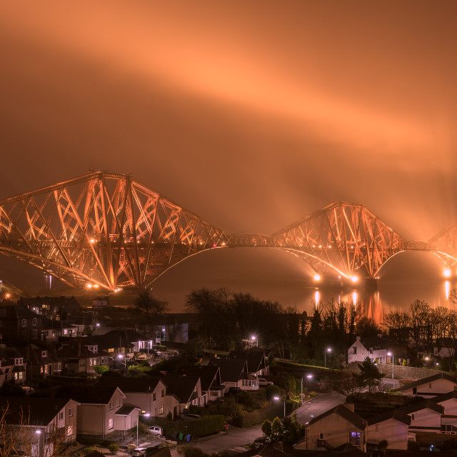 """Forth Rail Bridge & North Queensferry"" stock image"