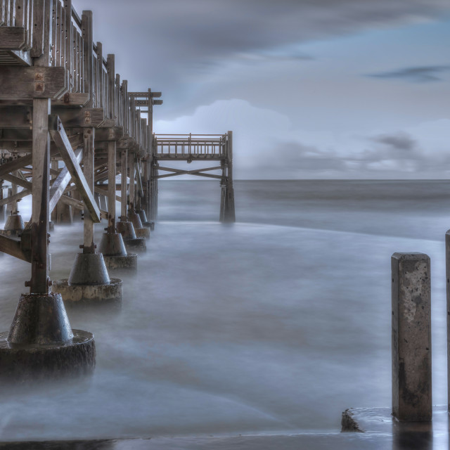 """""""Pier with a view"""" stock image"""