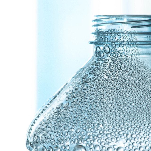 """Water Bottle Bubbles"" stock image"