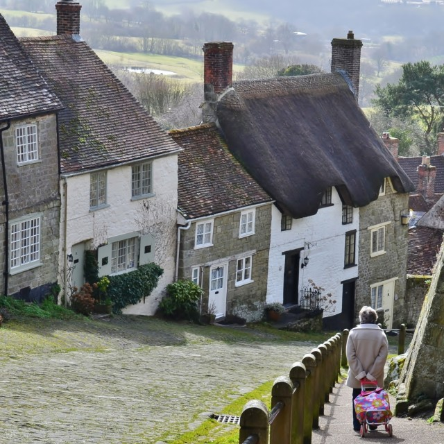 """Hovis Hill."" stock image"