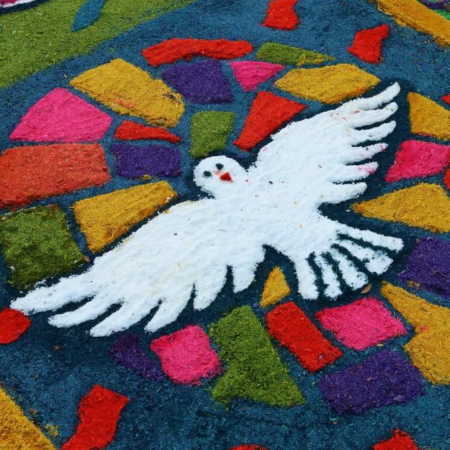 """Semana Santa carpet, Suchitoto, El Salvador"" stock image"