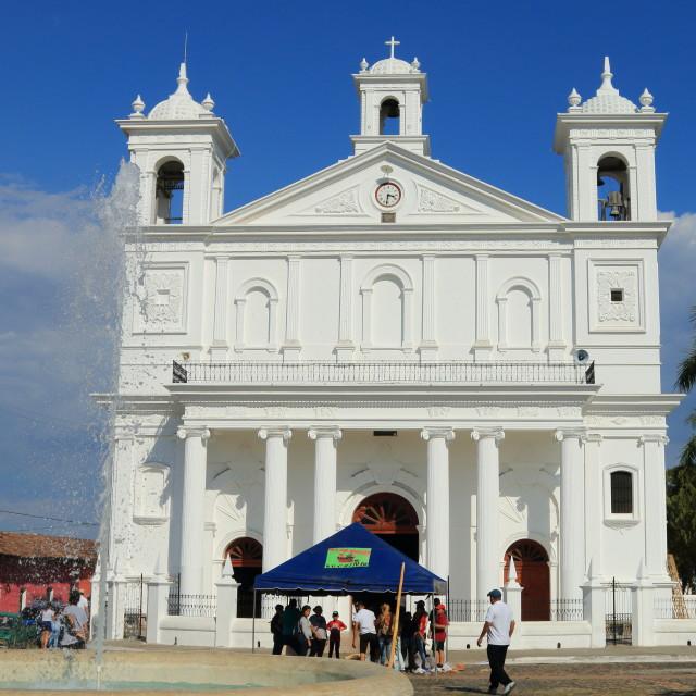 """""""Suchitoto Church, El Salvador"""" stock image"""