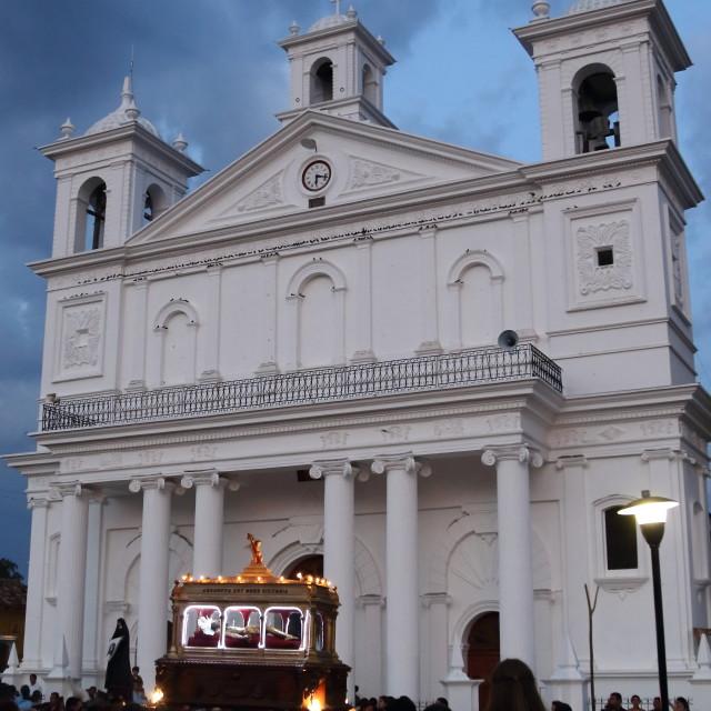 """Holy week celebrations, Suchitoto, El Salvador"" stock image"