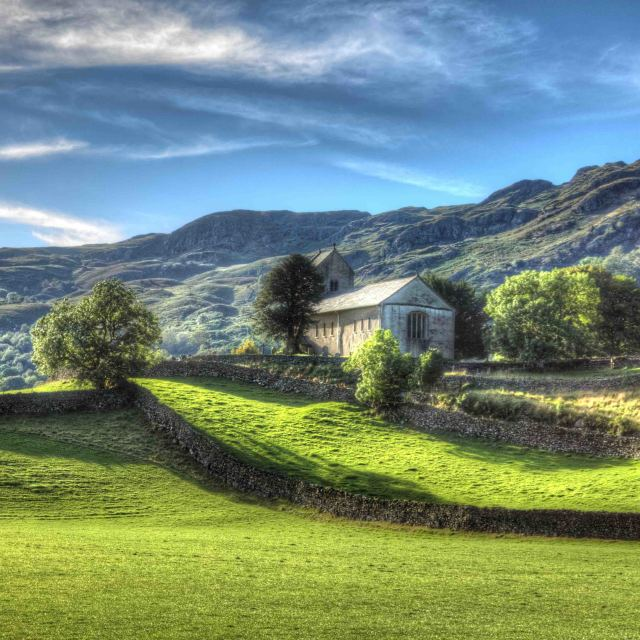 """Kentmere Church"" stock image"