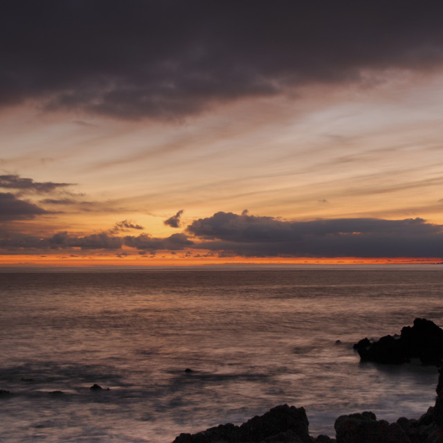 """Sunset, Tenerife"" stock image"