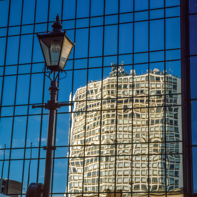 """Birmingham reflection"" stock image"