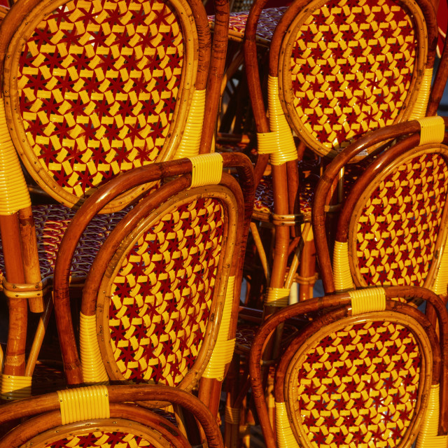 """Cafe chairs, Paris"" stock image"
