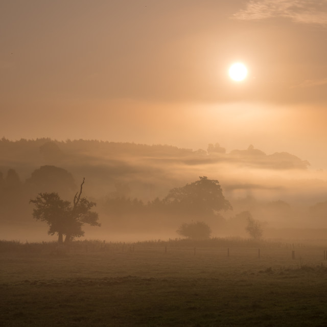 """Sunrise, Shropshire 2"" stock image"