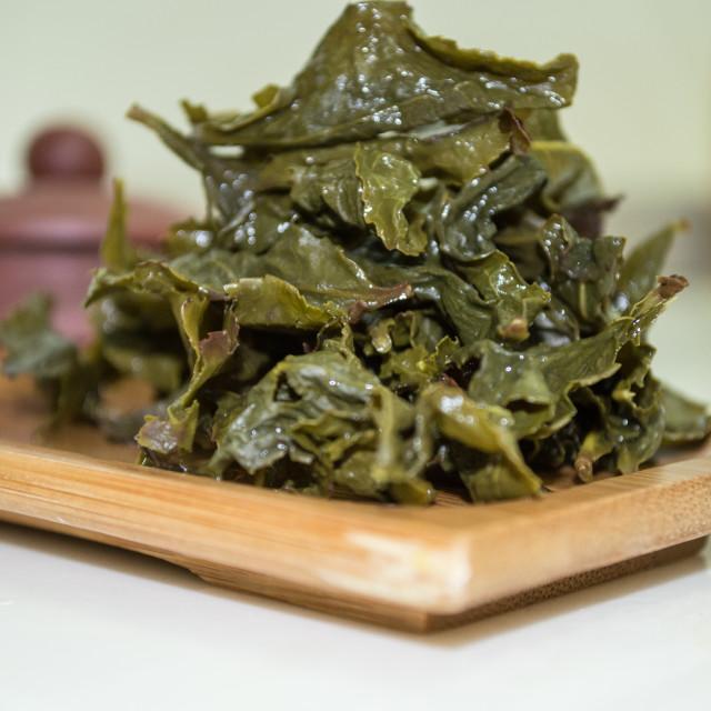 """Pure Raw Tea"" stock image"
