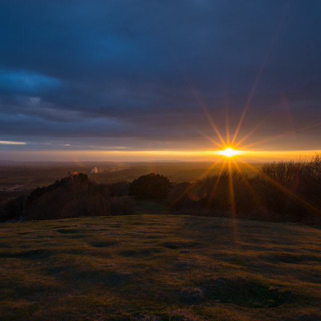 """Adam's Hill Sunset"" stock image"