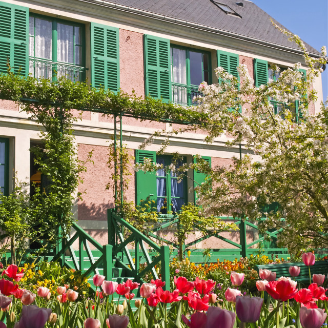 """Claude Monet's House at Giverny"" stock image"