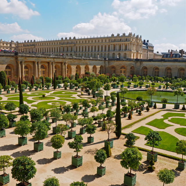 """The Chateau of Versailles"" stock image"