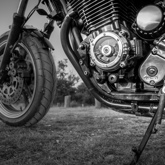 """Motorbike Engine Detail"" stock image"