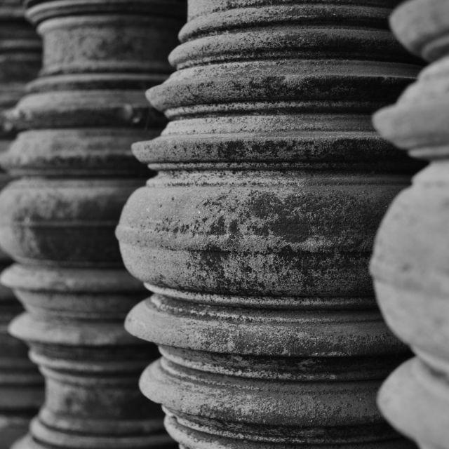 """""""Angkor Wat Columns"""" stock image"""