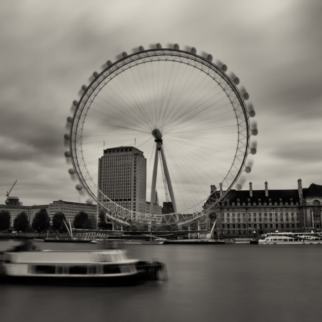 """London Eye in Motion"" stock image"