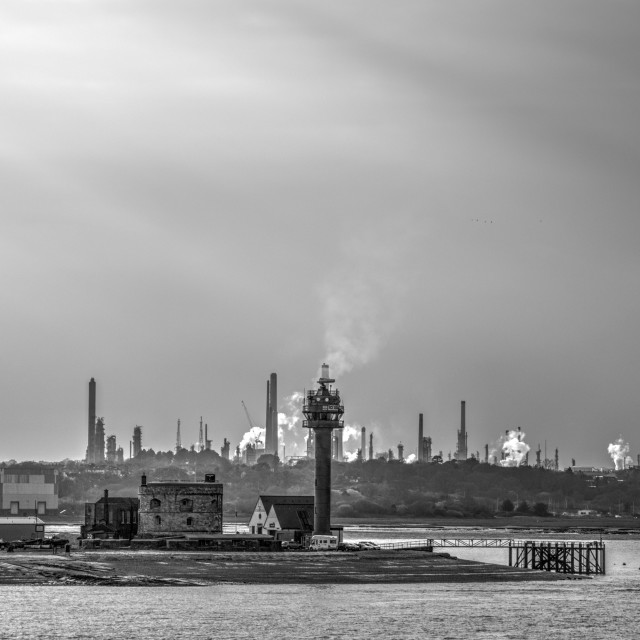"""Industry Southampton water"" stock image"