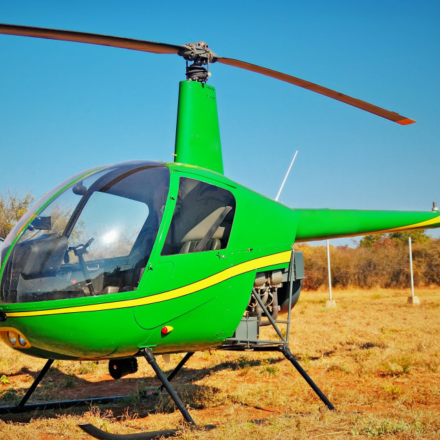 """""""DSC_4953- Green Copter"""" stock image"""