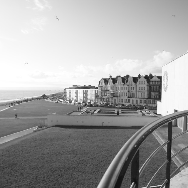 """Bexhill From Above"" stock image"