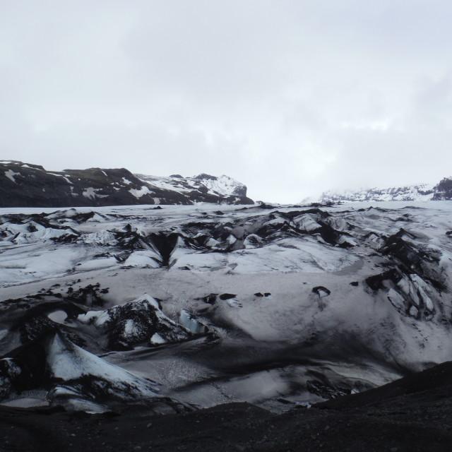 """glacier edge"" stock image"