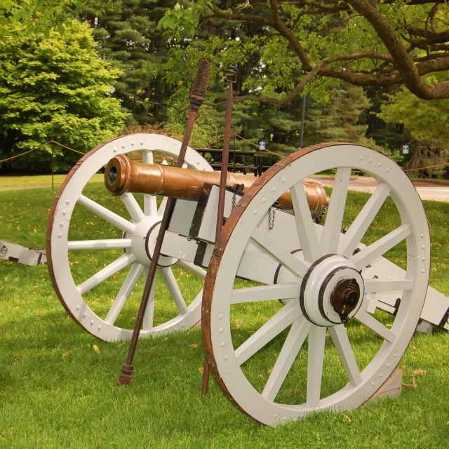 """6-pounder brass cannon"" stock image"