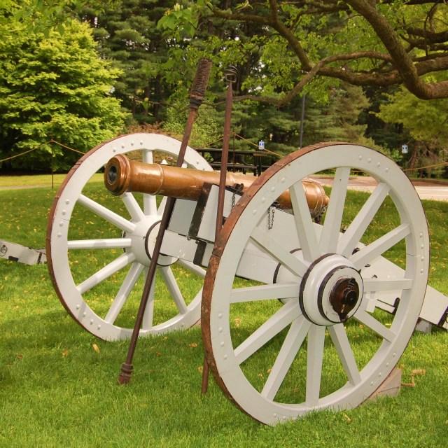 """6-pounder brass cannon"" stock image"