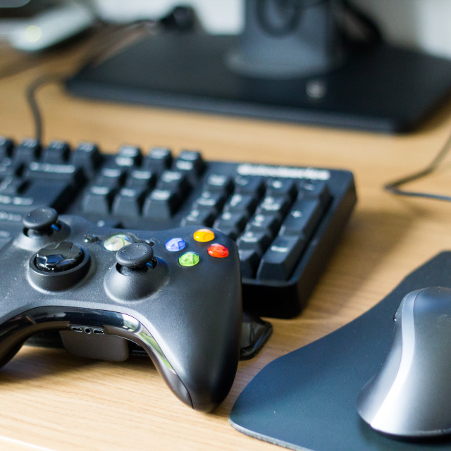 """Xbox Controller, Keyboard & Mouse"" stock image"