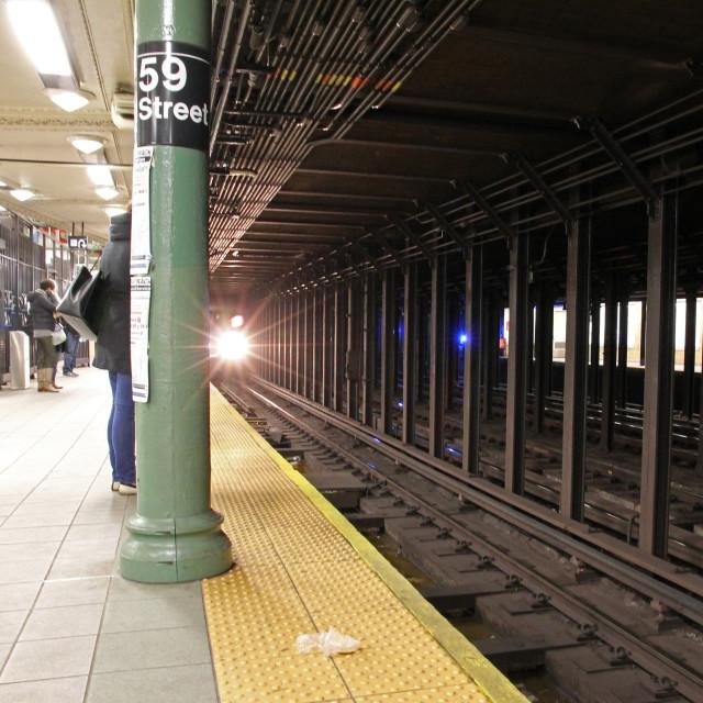 """59th St. subway"" stock image"