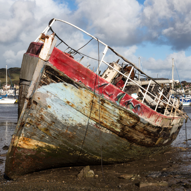 """""""Beached Boat"""" stock image"""