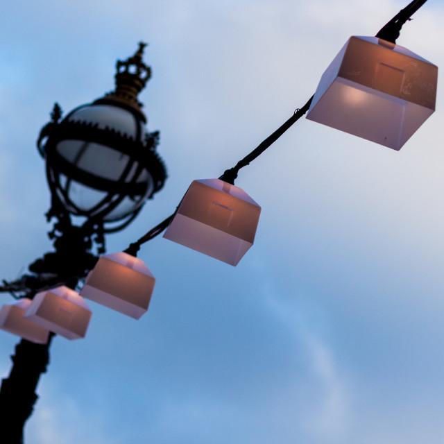 """""""Lighting up Thameside"""" stock image"""