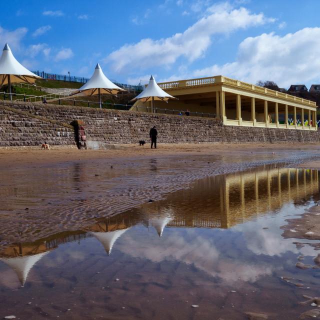 """""""Pavilion & reflection"""" stock image"""