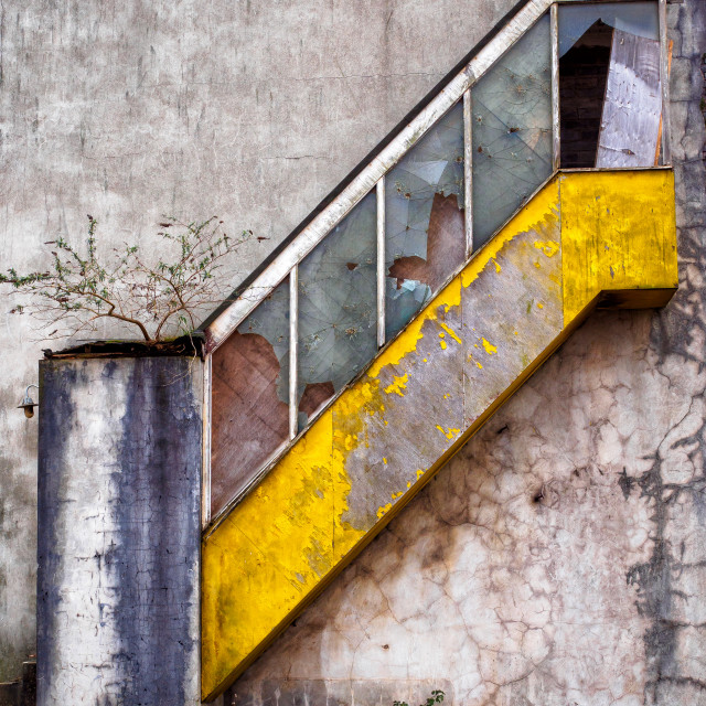 """Derelict Stairs"" stock image"