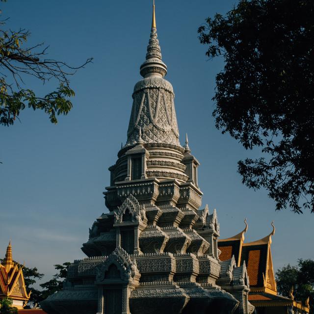 """""""Silver Pagoda, Phom Penh"""" stock image"""
