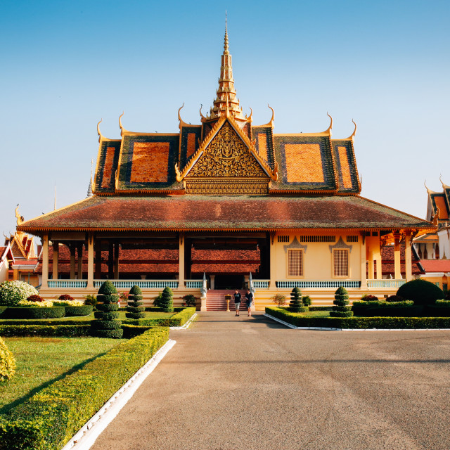 """Royal Palace, Phom Penh"" stock image"