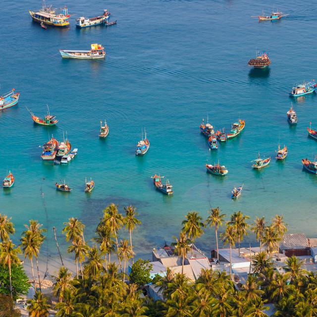 """""""Vietnam Landscape - Nam Du bay"""" stock image"""