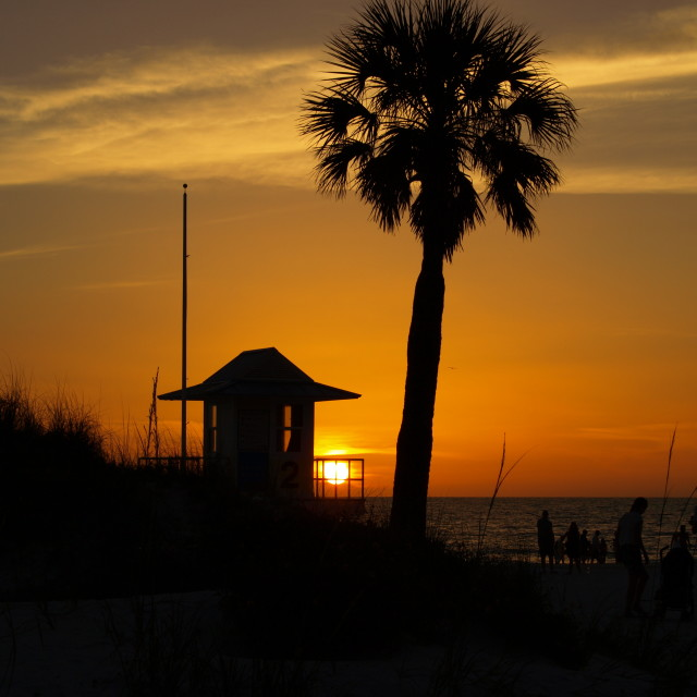 """""""Sunset Clearwater Florida"""" stock image"""