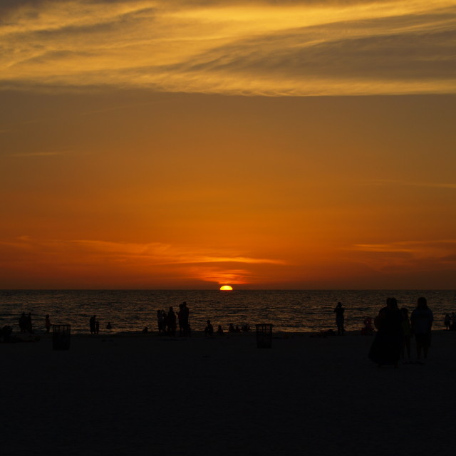 """""""Sunset on Clearwater Beach Florida"""" stock image"""