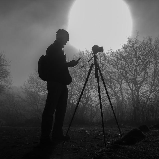 """Photographer - silhouette"" stock image"