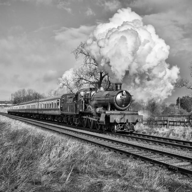 """""""GWR No.7820 Dinmore Manor"""" stock image"""