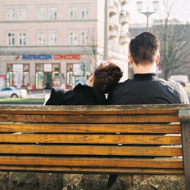 """Lovers in Berlin"" stock image"