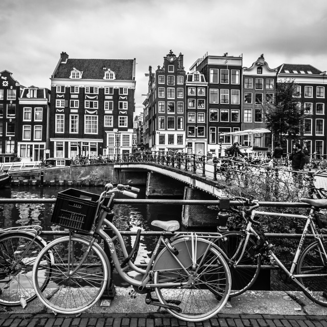 """Bicycles of Amsterdam"" stock image"