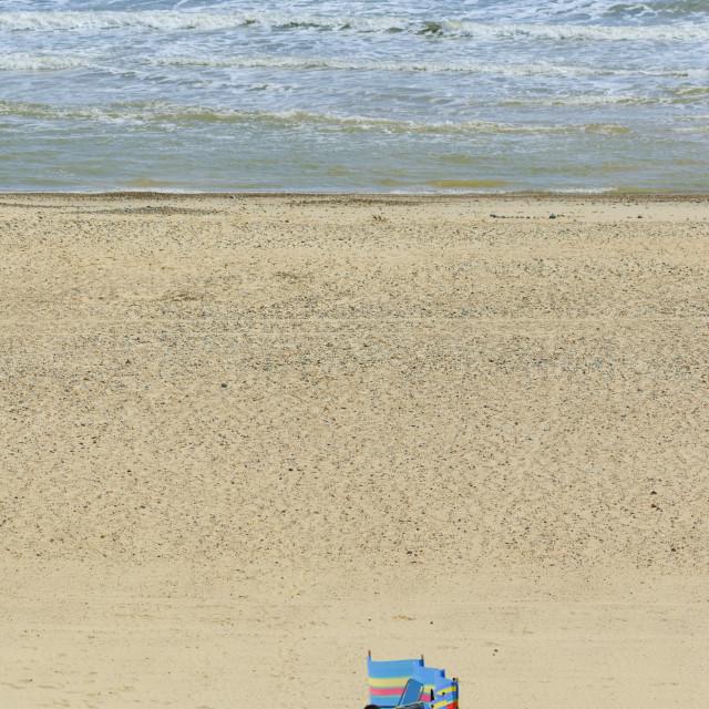 """Beach, Lowestoft, Suffolk, Britain"" stock image"