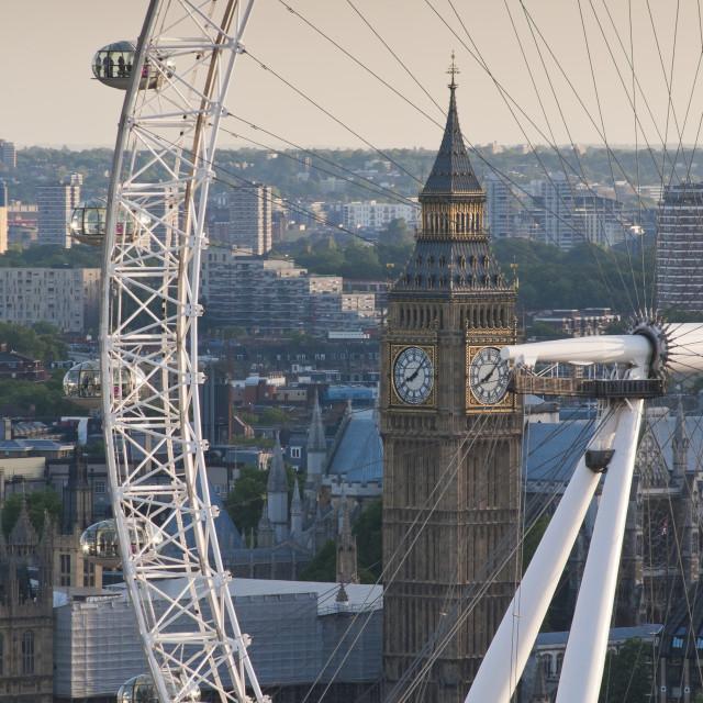 """The London Eye / Millennium Wheel"" stock image"